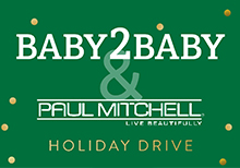 graphic link to baby2baby holiday drive